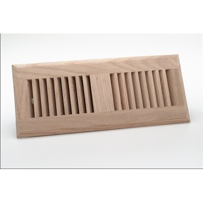 "Zoroufy 4"" x 10"" Red Oak Wood Surface Mount Floor Register"