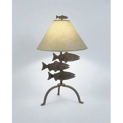 """Steel Partners Fish 26"""" H Table Lamp with Empire Shade"""