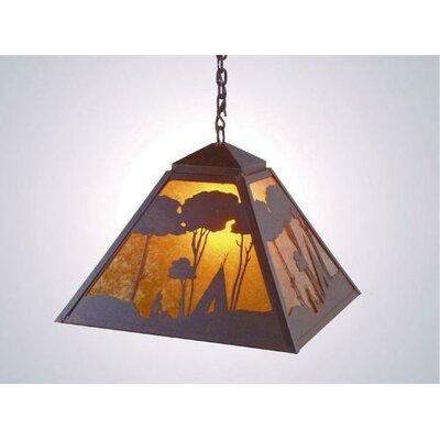Wallowa 1 Light Swag Pendant by Steel Partners