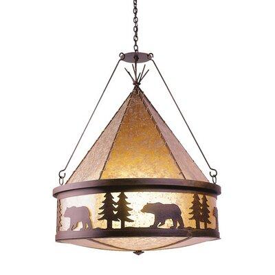 Bear 3 Light Teepee Chandelier by Steel Partners