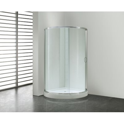 """Breeze Premium 34"""" x 34"""" x 76"""" Sliding Door Shower Package Without Walls Product Photo"""