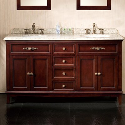 "Roma 60"" Double Bathroom Vanity Set Product Photo"