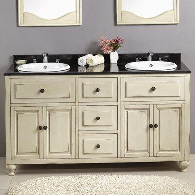 """Birmingham 60"""" Double Bathroom Vanity Set Product Photo"""