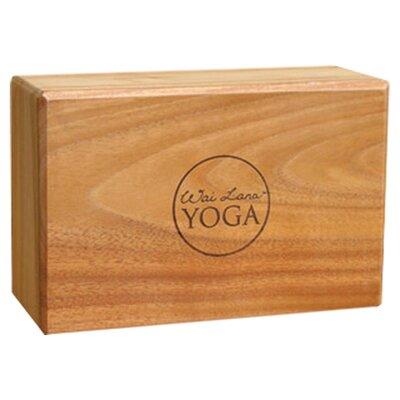 """Wai Lana 4"""" Teak Yoga Block"""