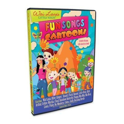 Wai Lana Little Yogis Kids Fun Songs Cartoon DVD with Lyrics Book