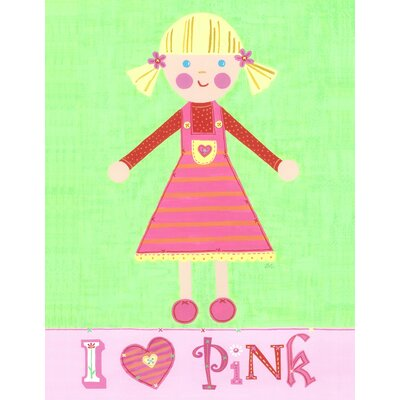 The Little Acorn Pink Girl Pinky Canvas Art