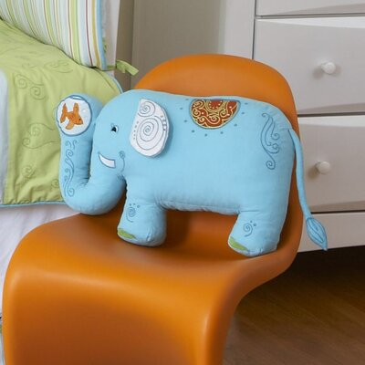 The Little Acorn Funny Friends Elephant Cotton Throw Pillow