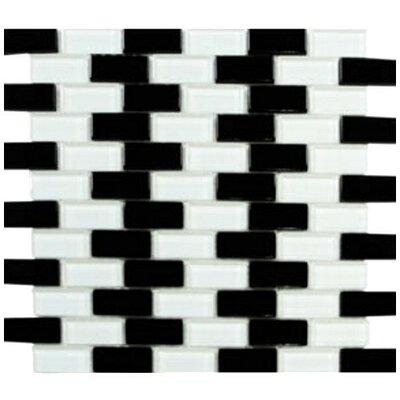 Interceramic Shimmer Blends Ceramic Mosaic Tile in Checkerboard