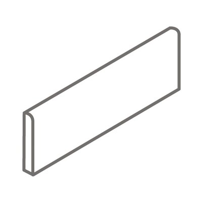 "Interceramic Bruselas 6"" x 2"" Surface Bullnose Tile Trim in Noce"