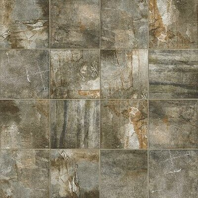 "Marazzi Vesale Stone 10"" x 20"" Porcelain Field Tile in Moss"