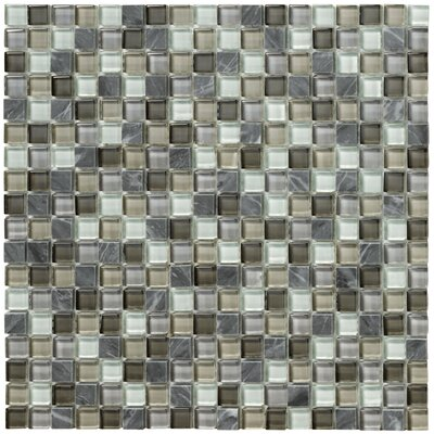 Crystal Stone II Glass Mosaic Tile in Pewter by Marazzi
