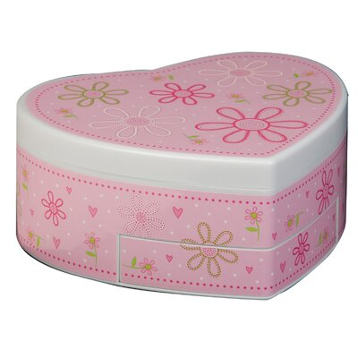 Ruby Girl's Glitter-Daisy Musical Ballerina Jewelry Box by Tori Home