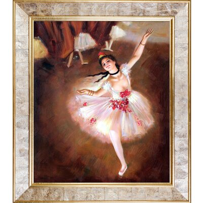 Star Dancer on Stage by Edgar Degas Original Painting on Canvas by Tori Home