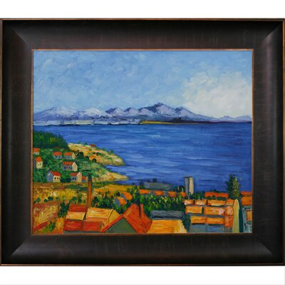 The Bay of Marseilles Canvas Art by Paul Cezanne Traditional by Tori Home