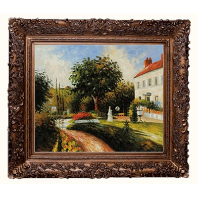 Pissarro The Garden of Les Mathurins at Pontoise Canvas Art by Tori Home