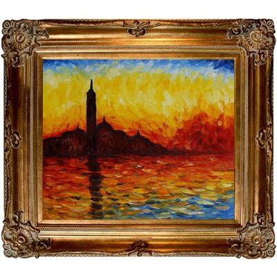 Monet San Giorgio Maggiore by Twilight Canvas Art by Tori Home