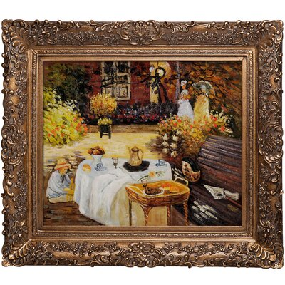 Monet The Luncheon Hand Painted Oil on Canvas Wall Art by Tori Home