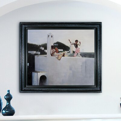Tori Home Rosina Capri by Sargent Framed Original Painting