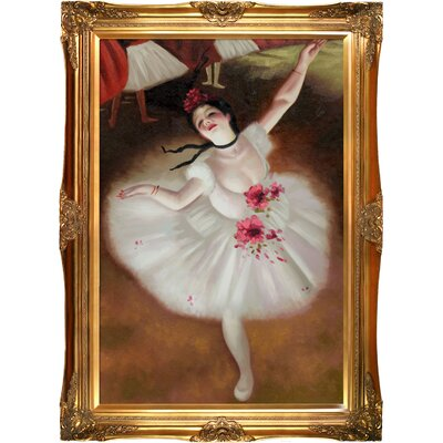 Star Dancer (On Stage) Degas Framed Original Painting by Tori Home
