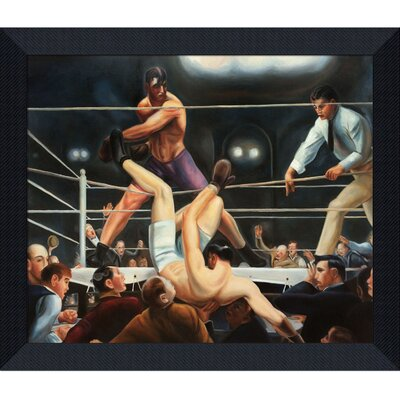 Bellows by Dempsey and Firpo Framed Hand Painted Oil on Canvas by Tori Home
