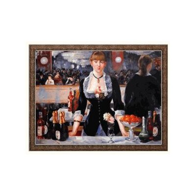 A Bar at the Folies-Bergere by Edouard Manet Framed Painting Print on Wrapped Canvas by ...