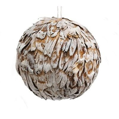 Rustic Dried Glitter Artichoke Christmas Ball Ornament by Tori Home
