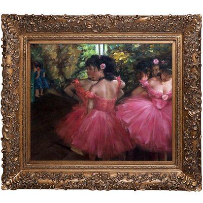 Dancers by Edgar Degas Framed Painting by Tori Home