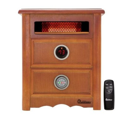 Dr. Infrared Heater Nightstand Model 1,500 Watt Portable Electric Infrared Cabinet Heater with Remote Control