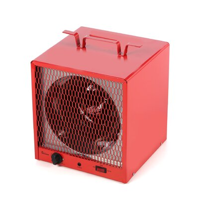 Industrial Heater 19,110 BTU Portable Electric Fan Compact Heater with Adjustable Thermostat by ...