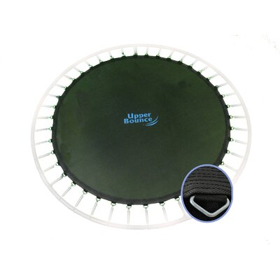 "Upper Bounce Round Jumping Surface for 12' Trampoline with 80 V-Rings for 7"" Springs"