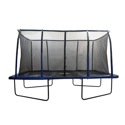 Spacious 14' Rectangular Trampoline & Fiber Flex Enclosure Product Photo