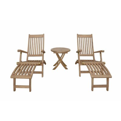 Tropicana Montage Steamer Lounge Chair Set by Anderson Teak