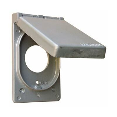 """Morris Products 1.75"""" One Gang Weatherproof Covers in Gray for Vertical Power Receptacle"""