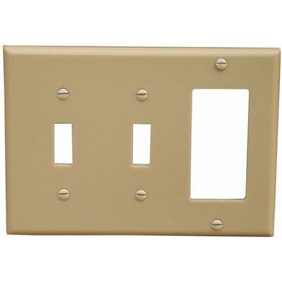 Morris Products 3 Gang 2 Toggle 1 GFCI Lexan Wall Plates in Ivory