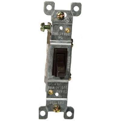Morris Products 15A-120/277V 3 Way Toggle Switch in Brown