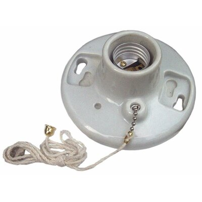 "Morris Products Porcelain Receptacles Pull Chain 6"" Lead"