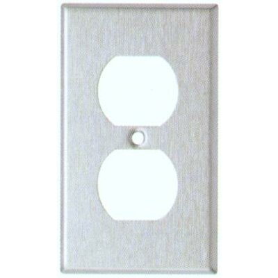 Morris Products Gang and Duplex Receptacle Metal Wall Plates in Stainless