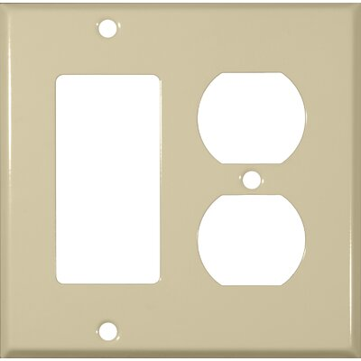 Morris Products Two Gang / GFCI and Duplex Metal Wall Plates in Ivory