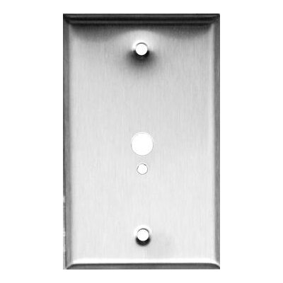 Morris Products 1 Gang 1 Phone 1 Cable Stainless Steel Metal Wall Plates
