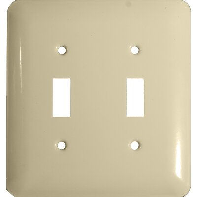 Morris Products Stainless Steel Metal Wall Plates in Ivory