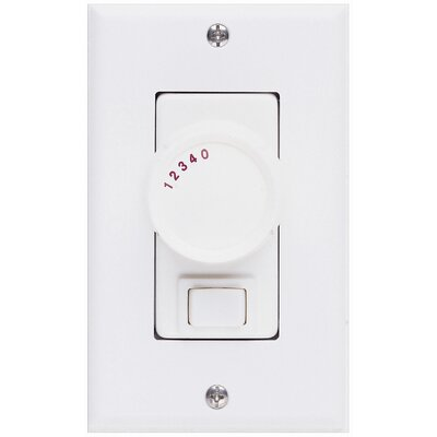 Concord Fans Three Way Ceiling Fan Rotary Wall Control Unit in Ivory