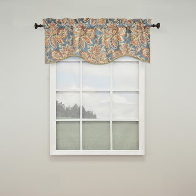 "Treasure Trove 52"" Scalloped Curtain Valance Product Photo"