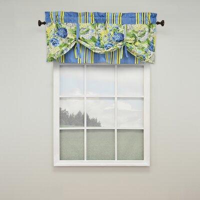 "Floral Flourish 52"" Lined Window Curtain Valance Product Photo"