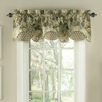 Garden Glory Scalloped Floral Curtain Valance Product Photo