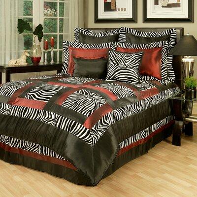 Sherry Kline Jungle Passage Zebra 8 Piece Comforter Set