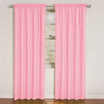 Kids Wave Rod Pocket Window Single Curtain Panel Product Photo