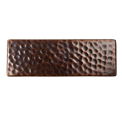 "The Copper Factory Solid Hammered Copper 6"" x 2"" Decorative Accent Tile in Antique Copper"