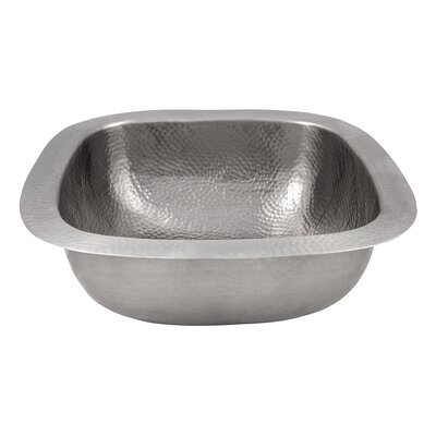 """18"""" x 18"""" Hand Hammered Extra Large Square Bar Sink Product Photo"""