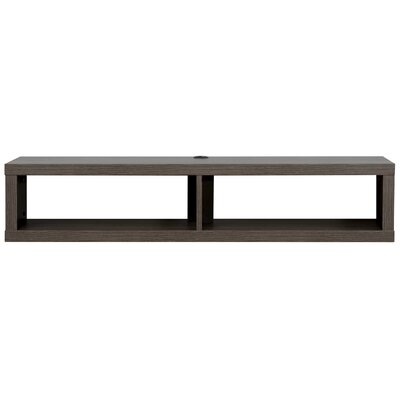 "48"" Shallow Wall Mounted TV Component Shelf Product Photo"