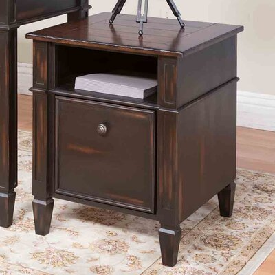 Eclectic Navarro 1 Drawer File Cabinet by Martin Home Furnishings